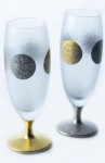 Sake Glas Jitsu-Getsu Sun and Moon Serie Pair Set  125ml Aderia Japan
