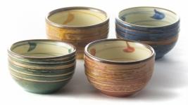Ceramic sake cup set